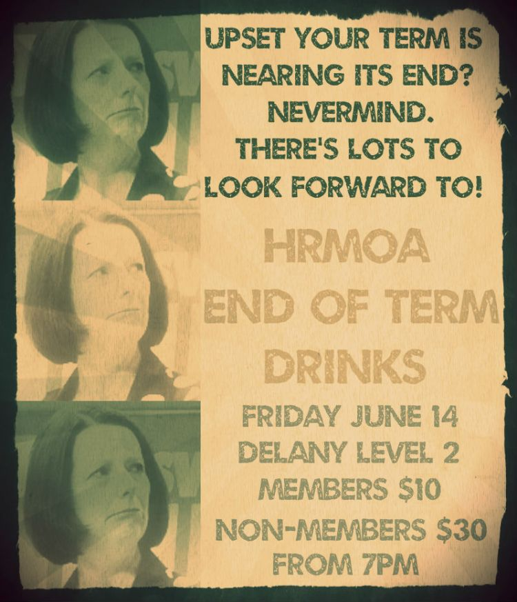 End of Term 2 Drinks Poster